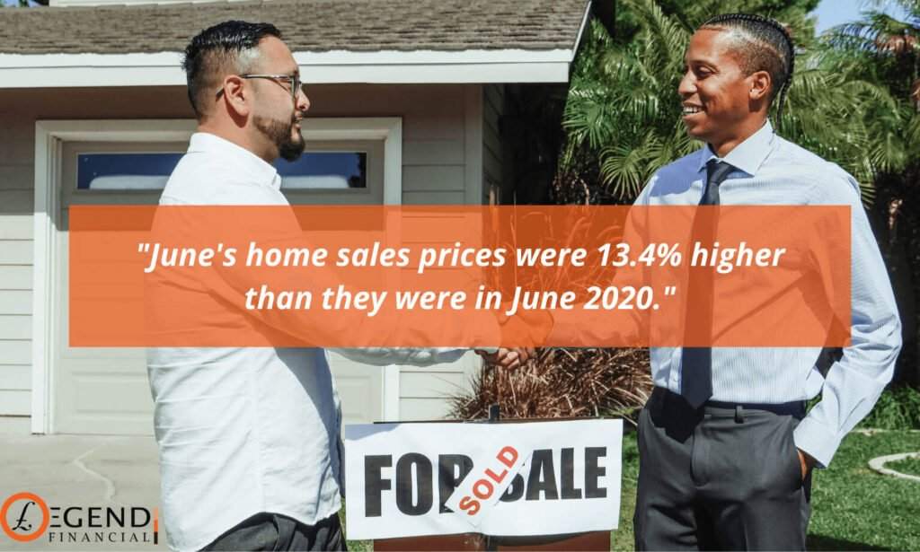 June 2021 home sales