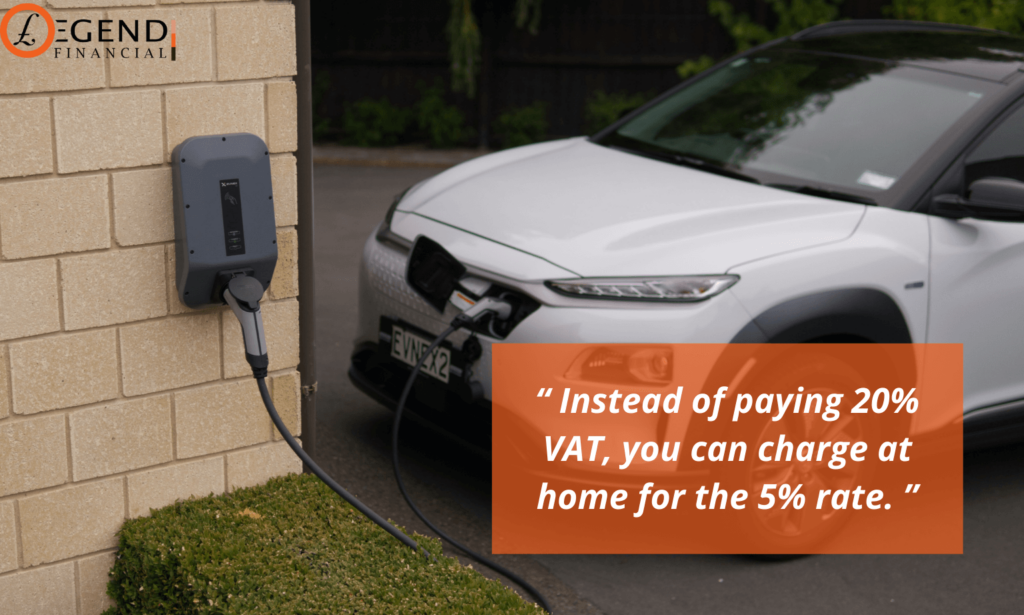 you can charge at home for the 5% rate.
